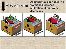 Cause of watershed runoff